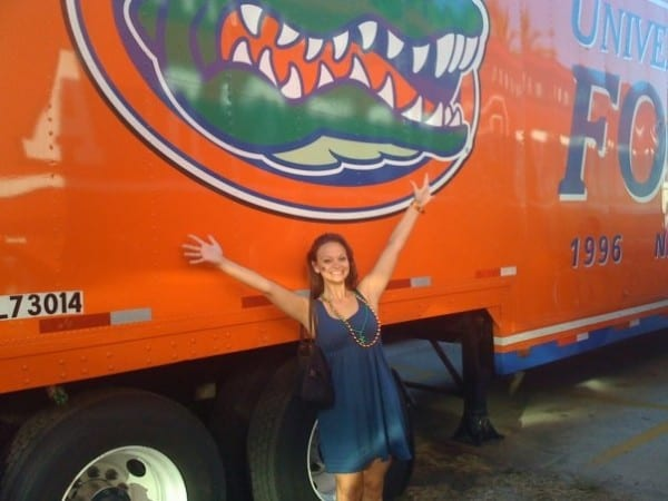 Welcome to the Swamp! Only Gators get out alive! (And tourists... come on, guys! It's just a football thing!)