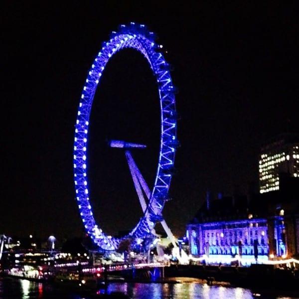 The blue London Eye