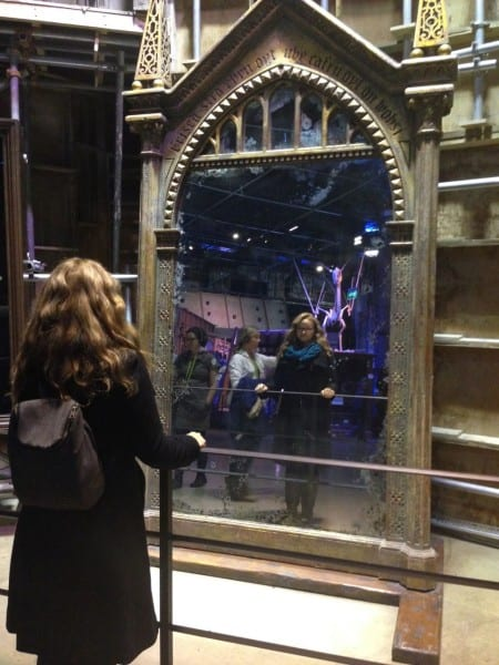 Gazing into the Mirror of Erised, like Harry did.