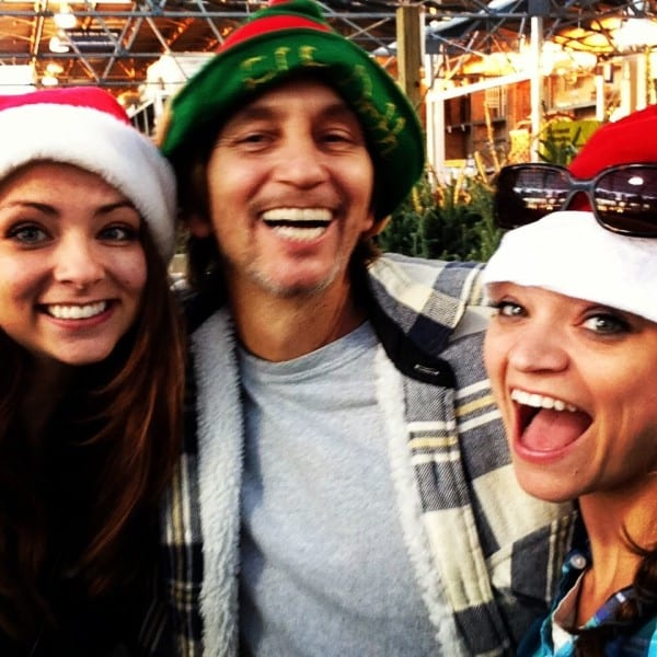 Picking out a Christmas tree with little sis and Dad