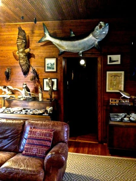 Inside the Hunting Lodge, built in 1917