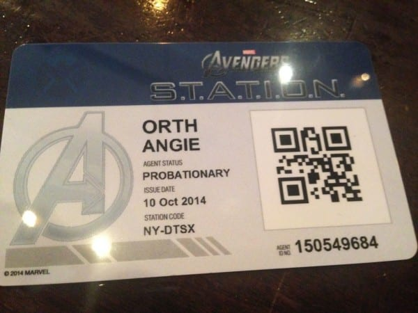 As you move through the Marvel exhibit, you scan your card to participate in interactive displays