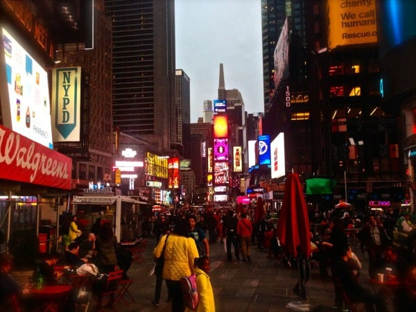 Times Square hasn't changed much since my last visit