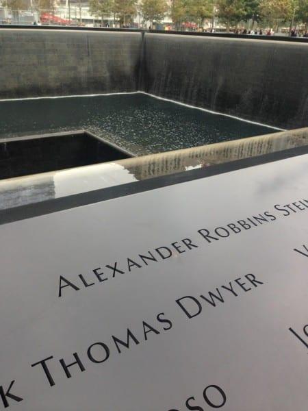 At the World Trade Center Memorial