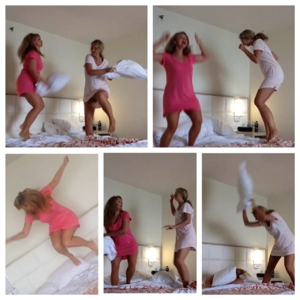 A pillow fight before breakfast... doesn't everyone do this?
