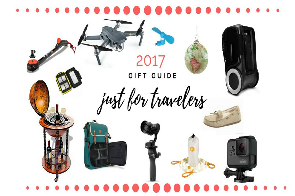 GIVEAWAY! Angie Away's 6th Annual Holiday Travel Gift Guide Featuring G-RO suitcase, GOGroove camera bag, Luminoodle, the Walking Company, GoPro, DJI Mavic, DJI Osmo, Spivo360