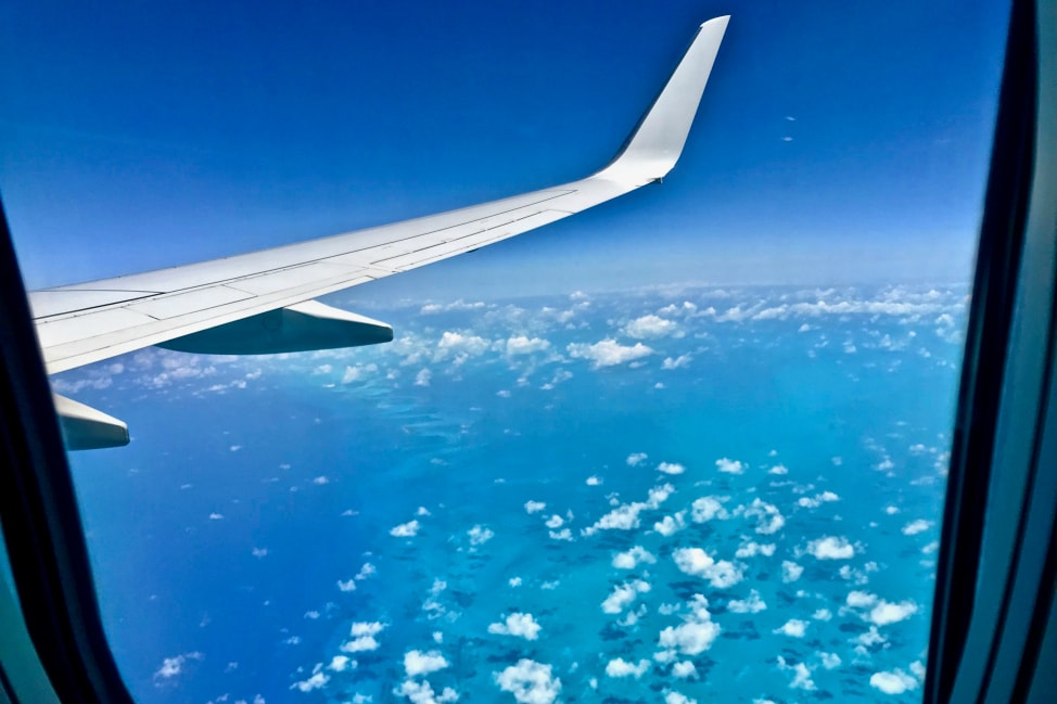 Reflections from the Road - Vol. 35 - Airplane over Caribbean-min