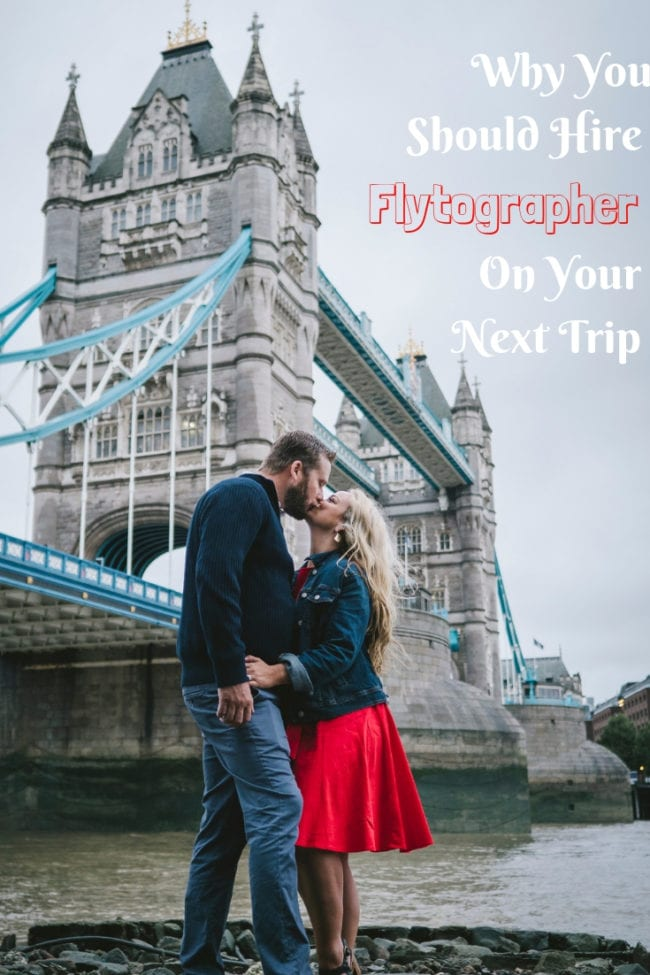 Want professional photos while you travel? Here's how to hire a professional photographer! We did it in London, but that's not the only place you can do it! Check out my Flytographer review and book one for your next trip. #Travel #London #Photography
