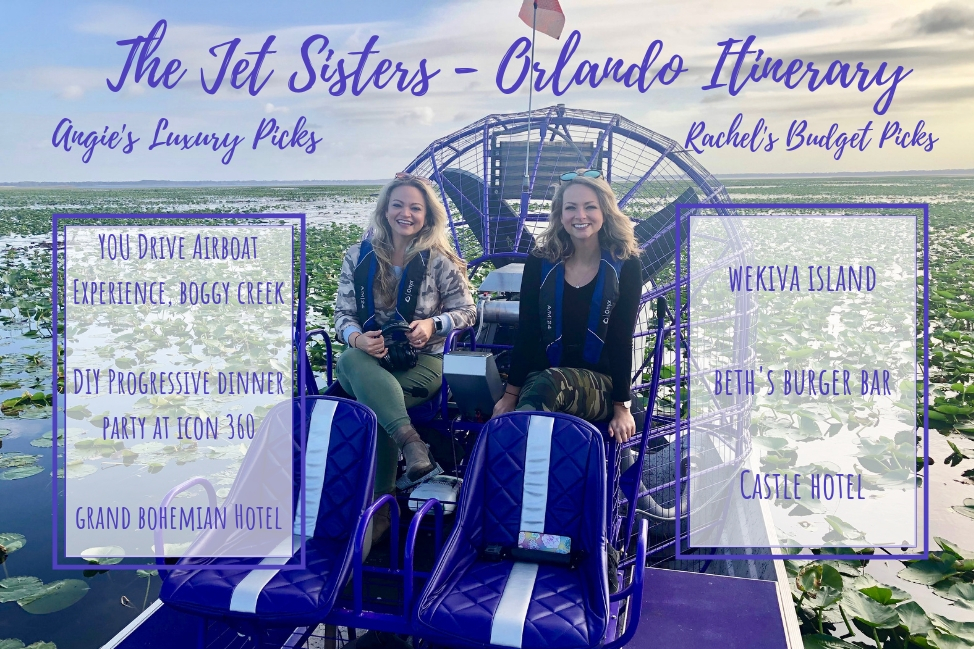 The Jet Sisters Orlando Itinerary. What to do on a budget in Orlando outside the theme parks!