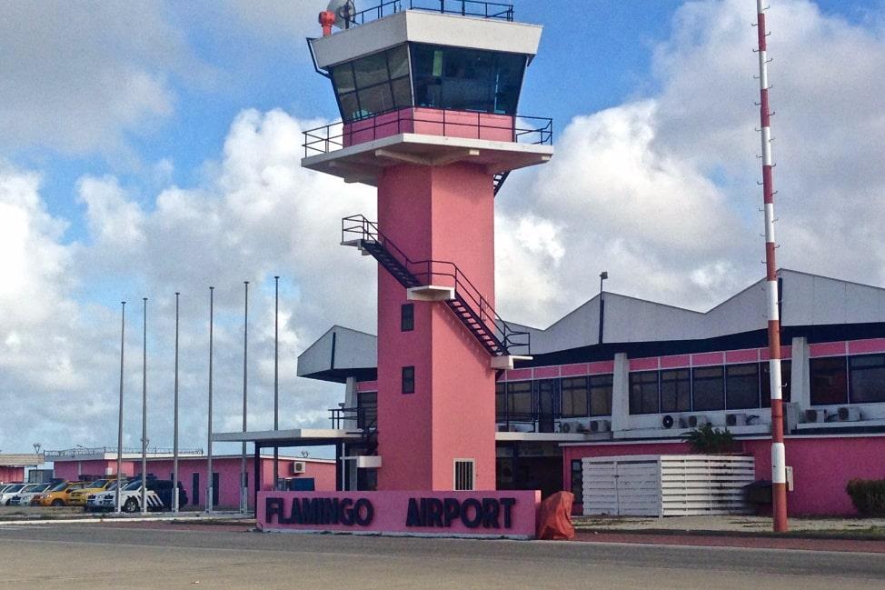 Bonaire's Beautiful Pink Flamingo Airport