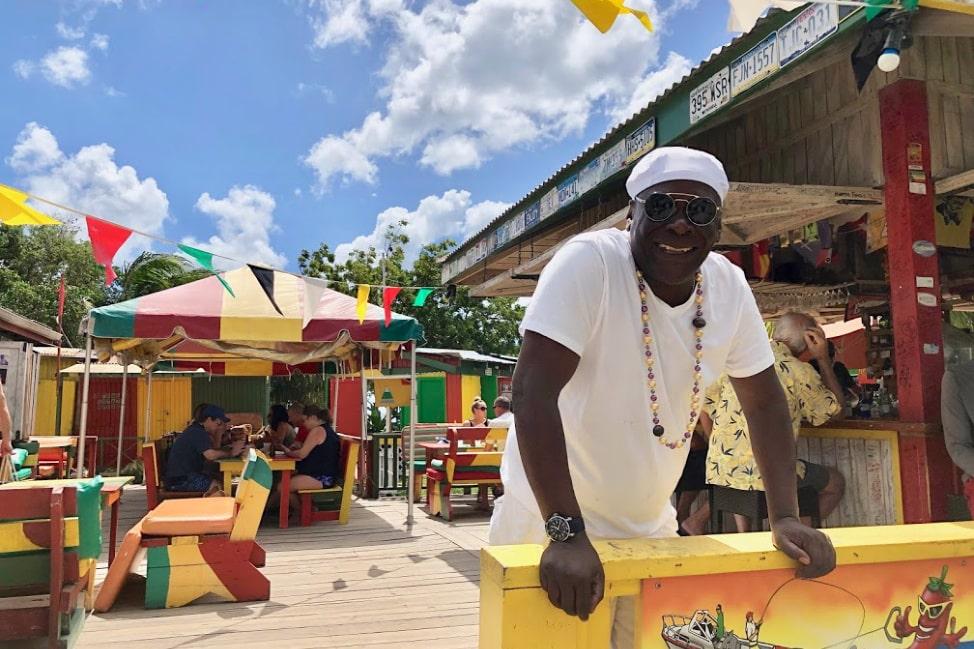 Sunshine's Bar Nevis Pinney's Beach - Nevis Travel Guide