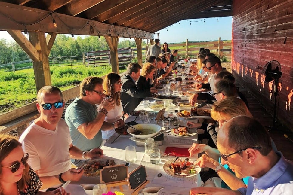 Farm to Table Dinner at the Old Red Barn Leduc Alberta