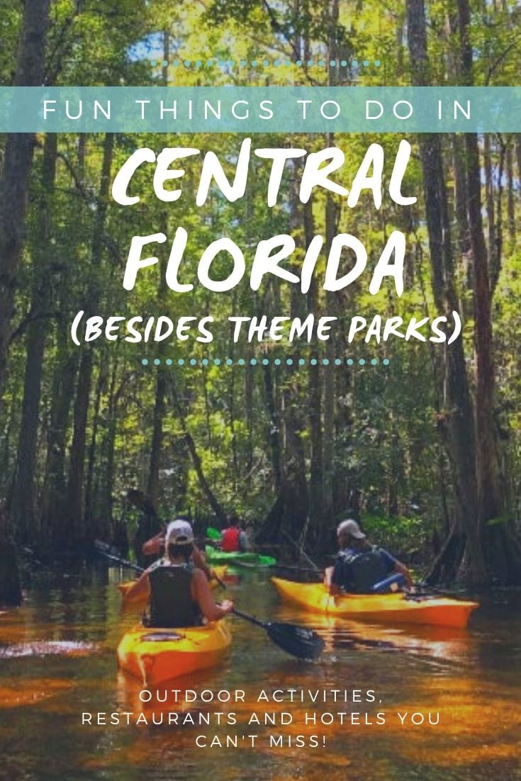 """Looking for fun things to do in Kissimmee? One of the most common questions we get as travel experts based in Florida is, """"What else is there to do in Orlando / Kissimmee besides theme parks?"""" Central Florida has lots to offer for those looking for adventures. Check out this weekend itinerary including kayaking, bike rentals and hotels in Kissimmee."""