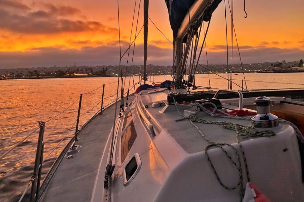 Sunset Sailing in San Diego