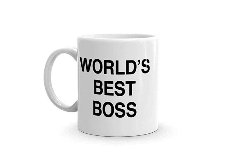 World's Best Boss Mug - The Office Gifts Guide