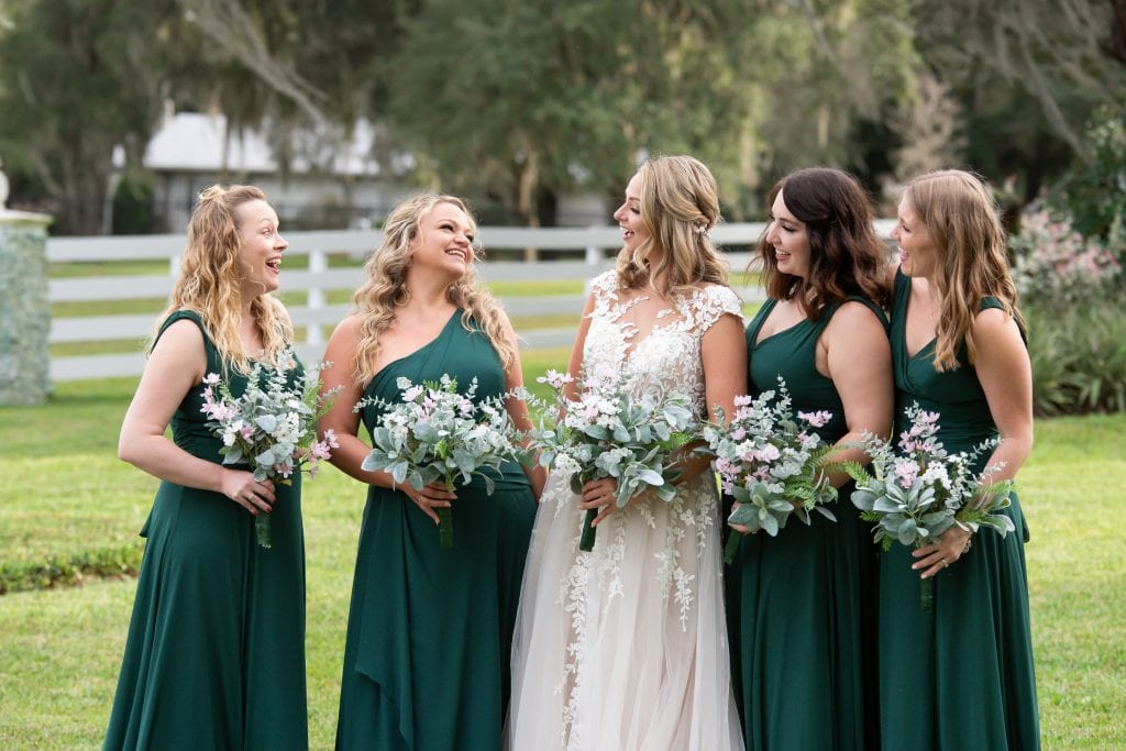 Juniper green bridesmaid dress