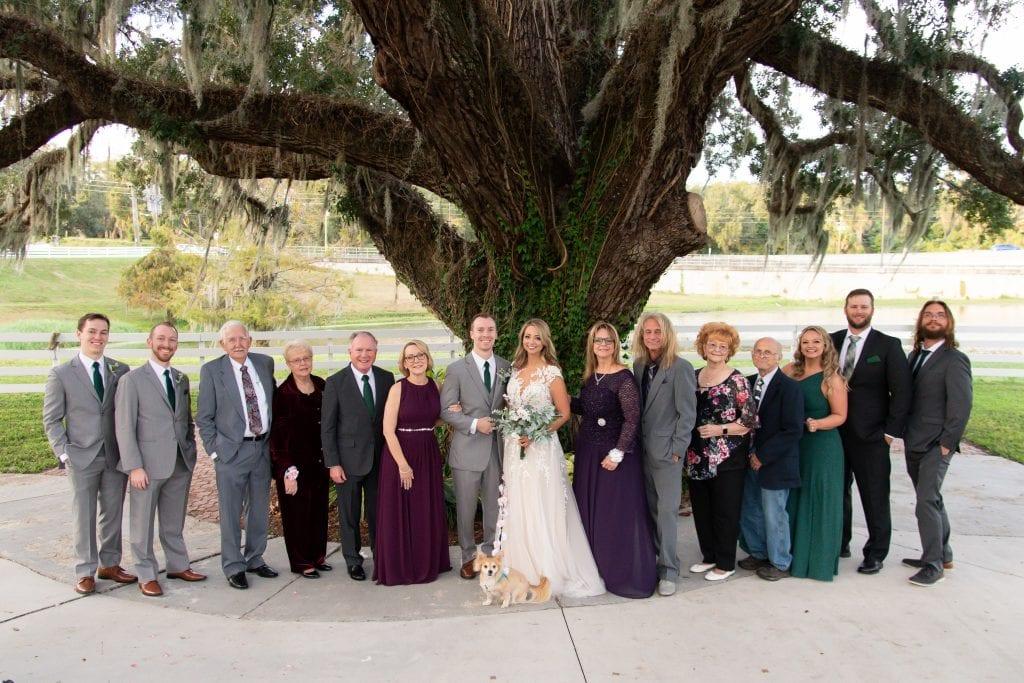 Family Wedding Photo at Highland Manor Apopka Wedding