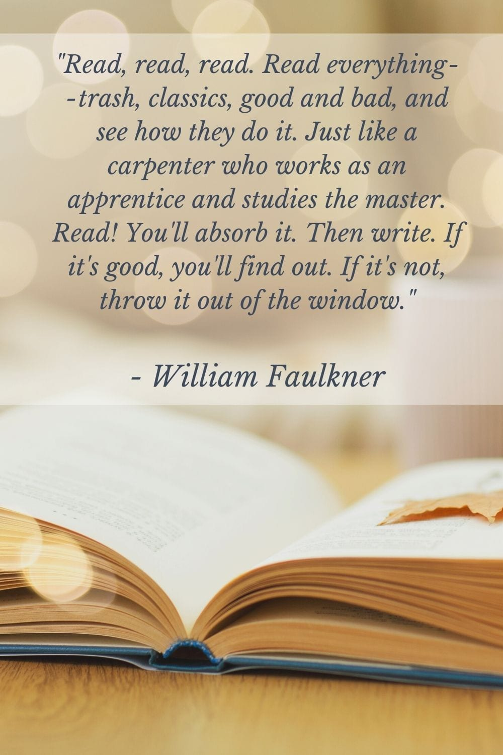 Faulkner quote on writing