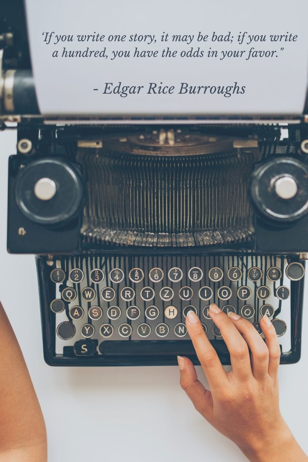 Edgar Rice Boroughs quote on writing